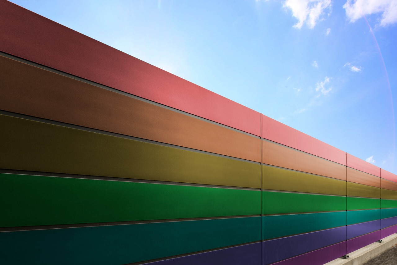 GUARDI Austria aluminum fence colorful rainbow colored individual aluminum personal