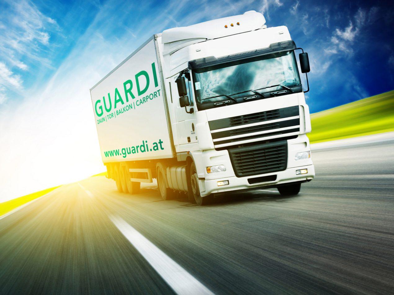 GUARDI Österreich LKW Versand Vertrieb Spedition Lieferung schnell