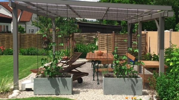 GUARDI Österreich Pergola Alaska Windfang Gartengestaltung Eigenheim