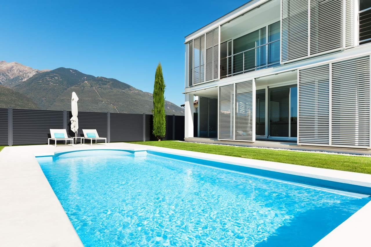 GUARDI Sichtschutz Aluminium Zaun Nouveau Lattenzaun Pool