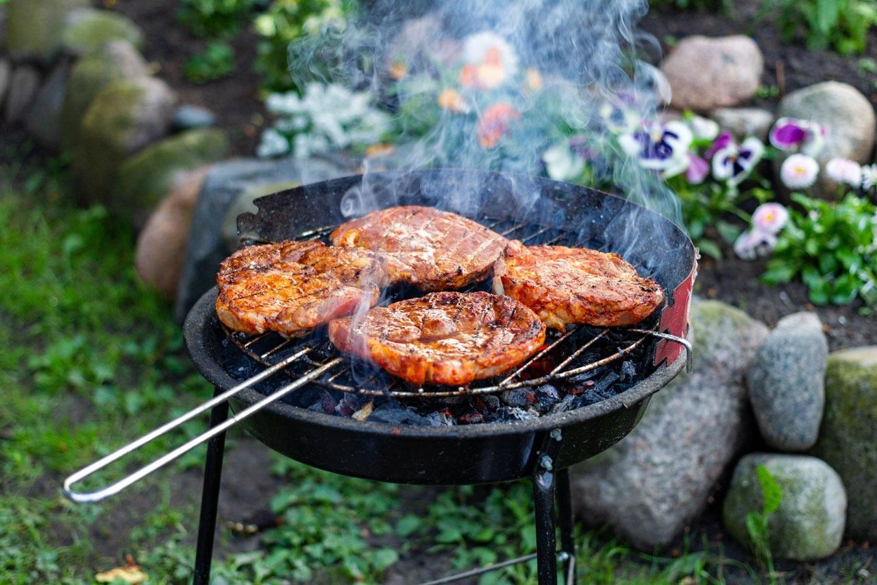 GUARDI Österreich Grillabend assymetrisch grillen BBQ Fleisch Wurst Kohle Essen Sommer Party Garten Balkon Terrasse