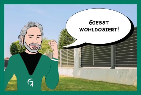 Guardi Österreich, Pflanzen giessen, Guardi Man, Zaun günstig, Pflanzentipp
