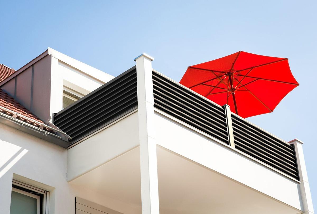 Balkon, Trento, Guardi, blickdicht, Sichtschutz