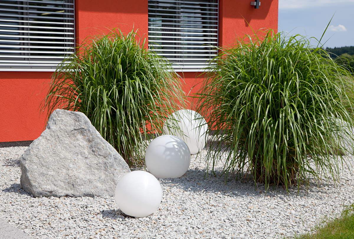 Vorgarten, Gartengestaltung, Kies, Zaundesign