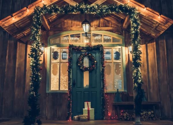 Weihnachten, Weihnachtsbeleuchtung, do it yourself, besinnlich, GUARDI, Österreich, Design, Modern, Eingansbereich, Eigenheim, Dekoration, Mistelzweig