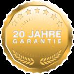 20 Jahre Garantie auf GUARDI Gartenhäuser aus Stahl