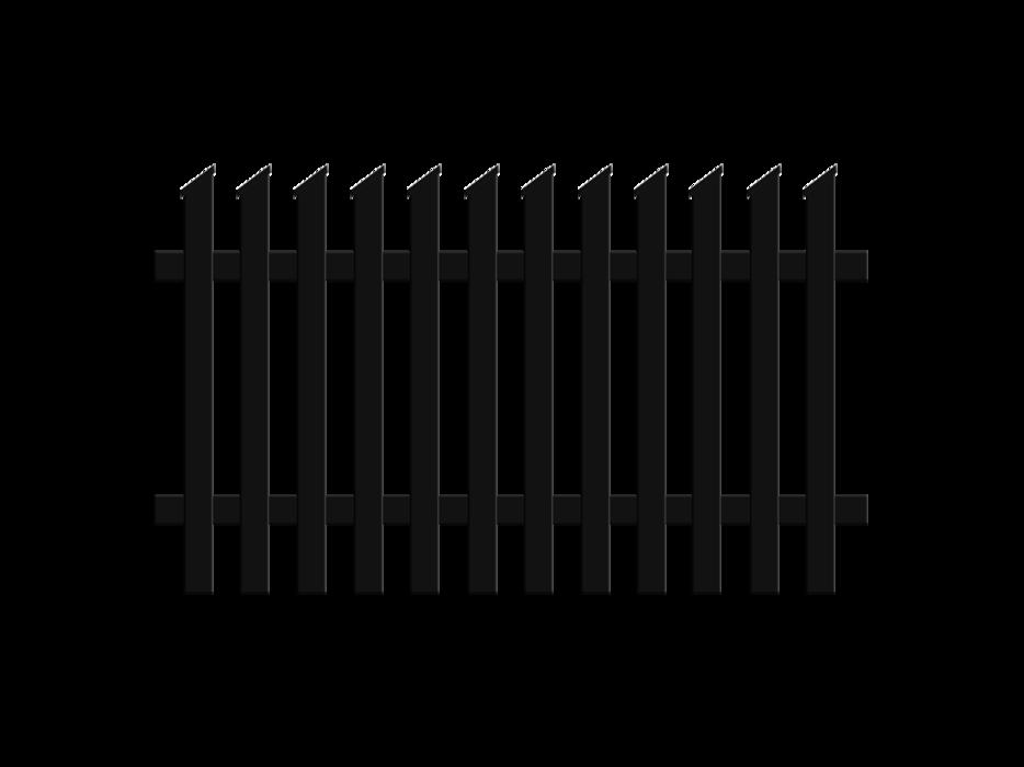 Jägerzaunfeld Schrägkappen schräg rechts in anthrazit, Modell Treviso, auf weißem Hintergrund