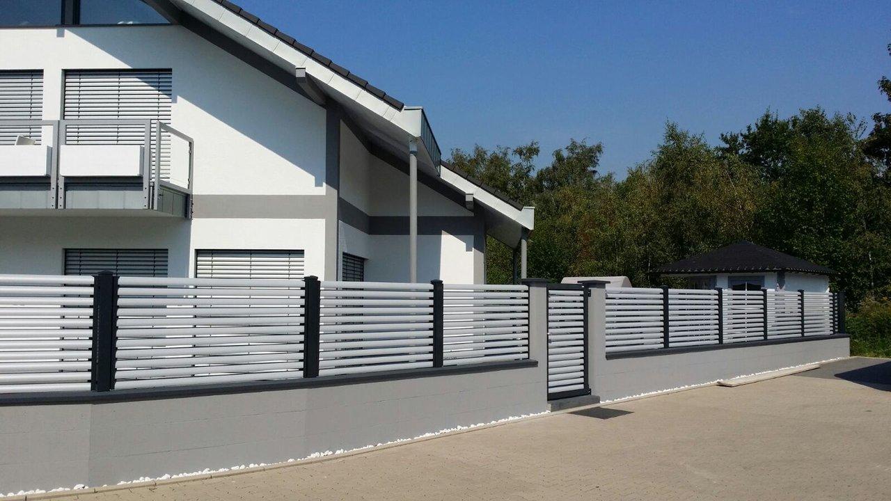 Lamellenzaun Plissee Kreativer Zaun Aus Aluminium Guardi