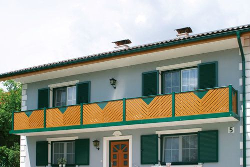 Guardi, Balkongeländer, Holzzaun, Aluminium, Geländer, Sichtschutz, Sichtschutz Terrasse