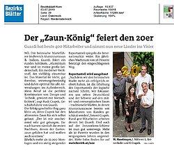 Textauszug aus dem NÖ Bezirksblatt zum GUARDI Jubiläum