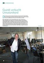 Textauszug aus dem FOBS Magazin mit einem Artikel über den Umsatzrekord von GUARDI