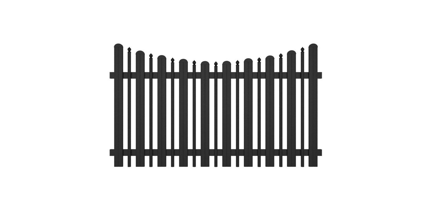 Milano, Guardi, Österreich, Aluzaun, Zaun, Aluminium, klassisch, Zaunfeld